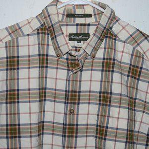 Eddie bauer button down mens shirt size XL J688